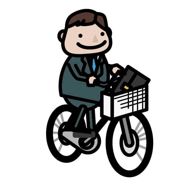 ビジネスマンの自転車