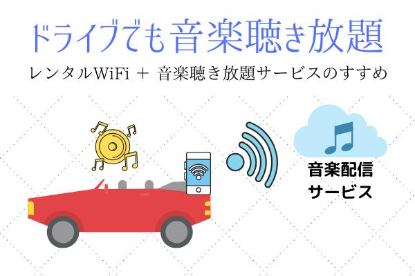 音楽配信サービス+レンタルWiFi