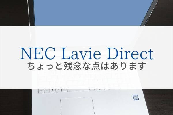 NEC Lavie Direct残念な点