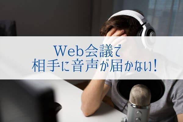 Web会議で声が相手に伝わらない原因!? マイクの『オーディオ拡張機能』